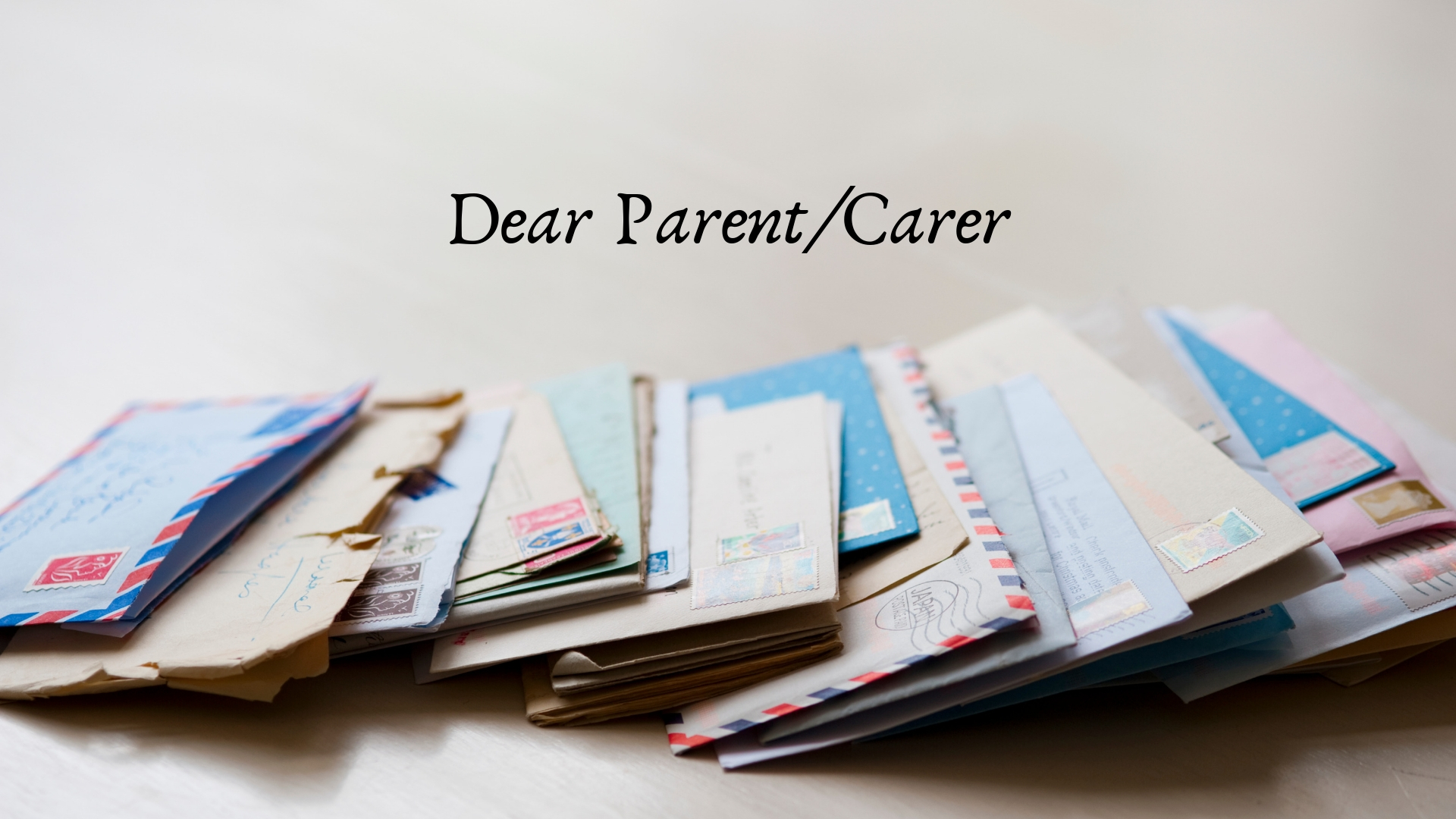 Summer Letters to Families