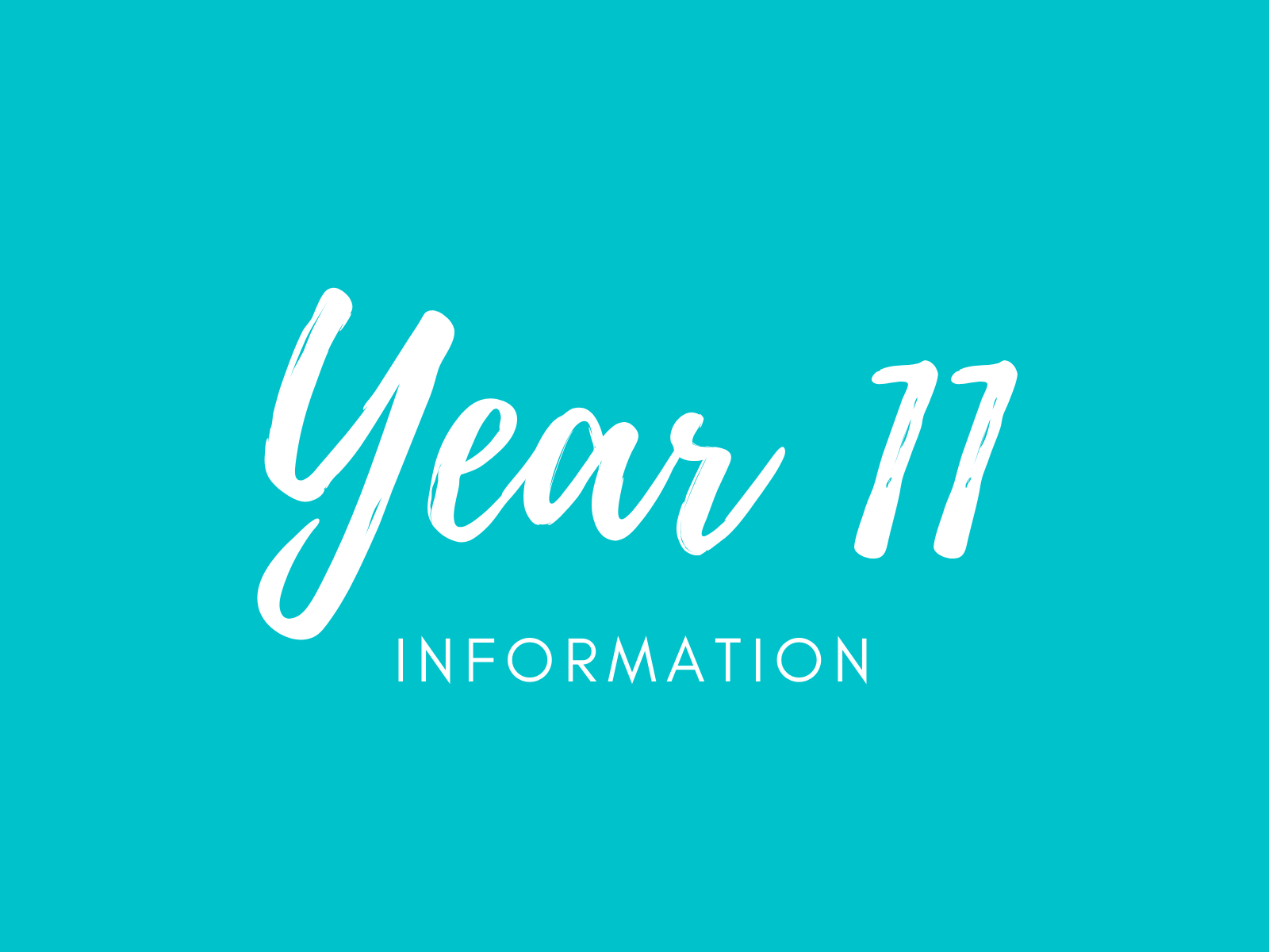 Year 11 College Information